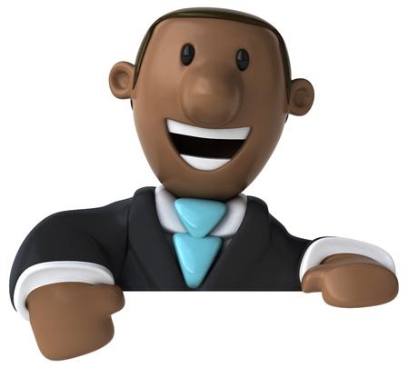 Dibujos animados hombre de negocios sonriente Foto de archivo