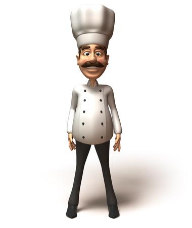 jobs: Cartoon chef standing