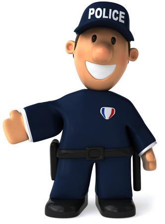 笑みを浮かべて漫画警官