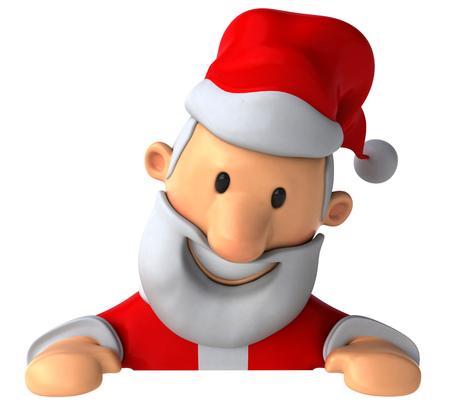 Cartoon santa claus looking downward