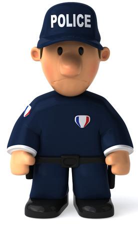 漫画警官に立って