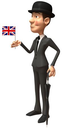 Gentleman holding a UK flag