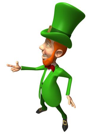 Leprechaun pointing