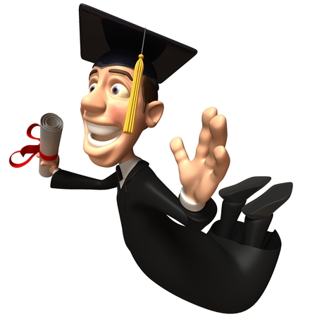 Graduate character flying
