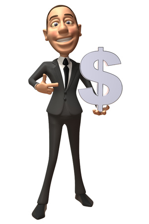 Businessman showing a euro symbol Stock Photo