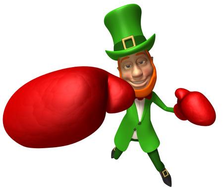 Leprechaun boxing