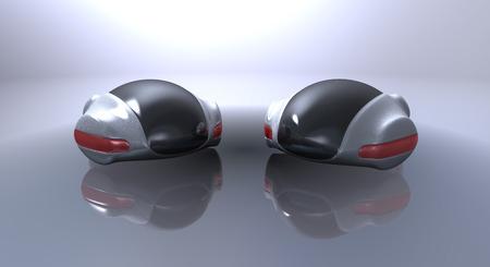 Futuristic cars Stock Photo