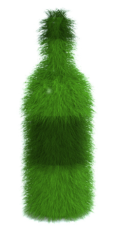 Grass wine bottle