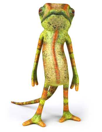 Kameleon karakter staat Stockfoto - 82238342