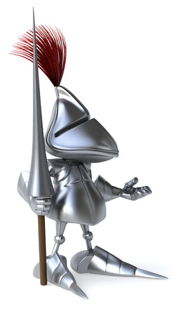 Knight with weapon of joust Stock Photo