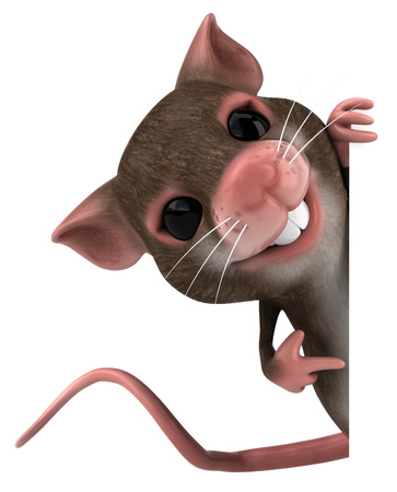 Mouse character pointing