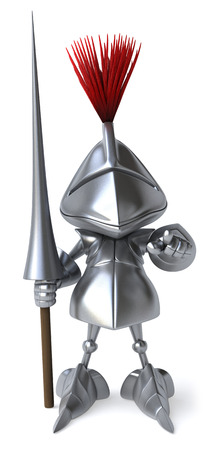 Knight with weapon of joust pointing