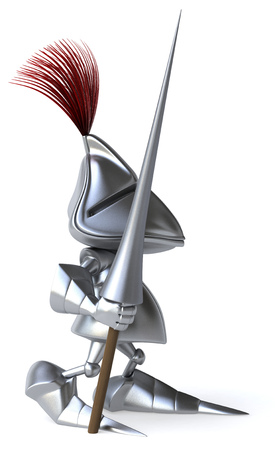 Knight holding a weapon of joust Stock Photo