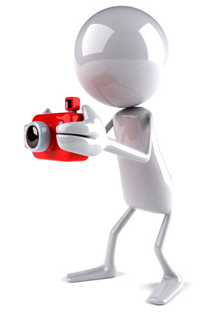 3D character using a camera