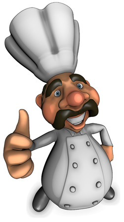 Chef character showing thumbs up