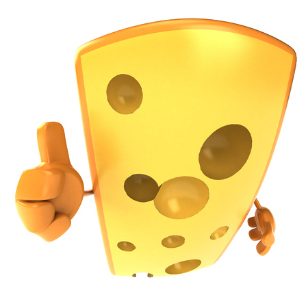 cheddar: Cheese character showing thumbs up