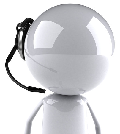3D character with headset
