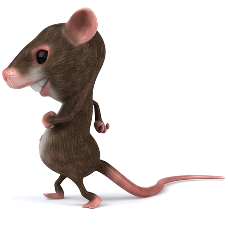 Mouse character walking