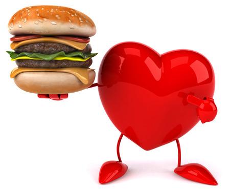 romance: Fun heart Stock Photo