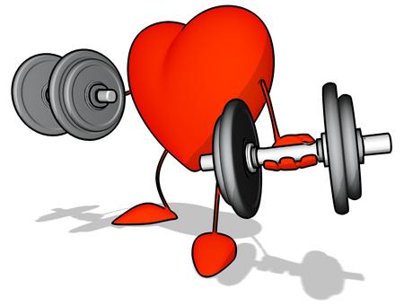 Fun heart Stock Photo