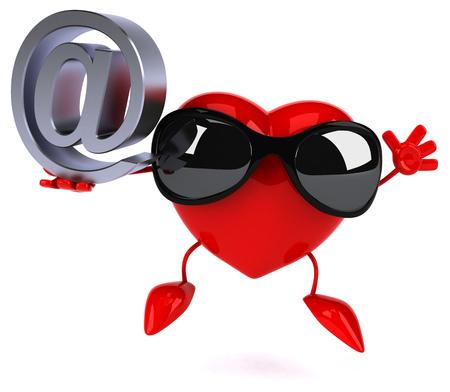 internet dating: Fun heart Stock Photo