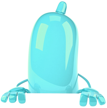 pouch: Condom character