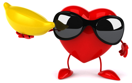 Fun heart Stock Photo
