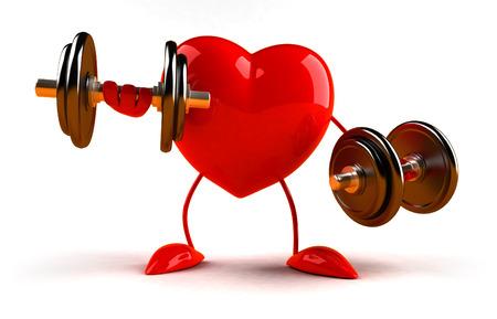 Fun heart Standard-Bild