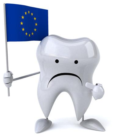 dientes con caries: diente diversión