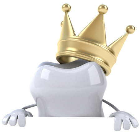 Tooth character with crown