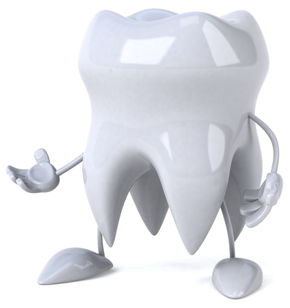 Tooth character Stock Photo