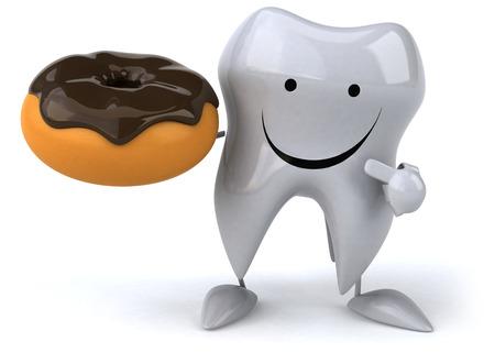 dientes con caries: diente diversi�n