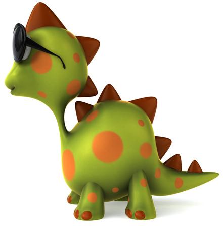 다른 곳에서보고있는 선글라스로 발견 된 공룡