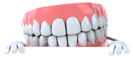 Dentures character Stock Photo