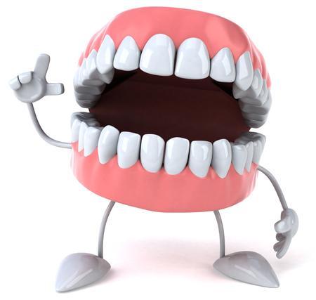 Zahnprothesen nach oben Standard-Bild - 81108202