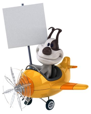aerial animal: Fun dog Stock Photo