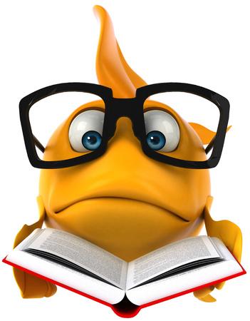 안경 및 도서와 만화 물고기 스톡 콘텐츠