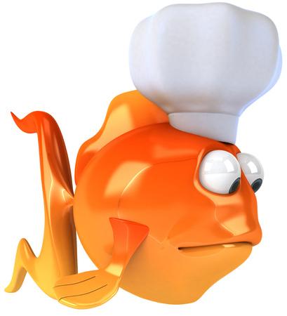 gills: Cartoon fish with chef hat