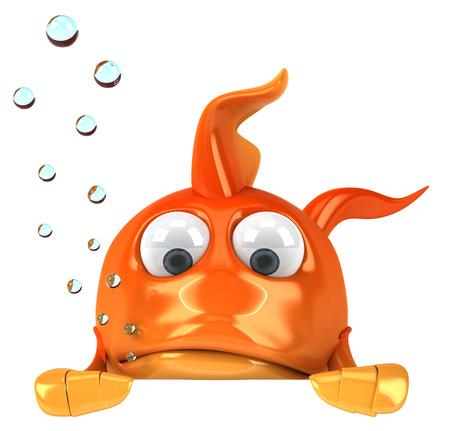 Cartoon fish is looking sad Stok Fotoğraf - 82572376