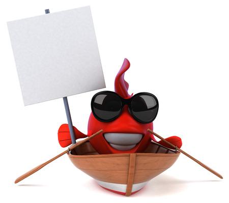 3d boat: Fun fish