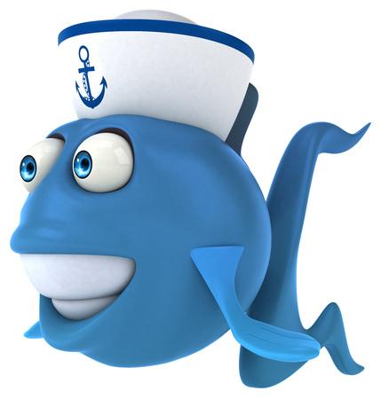 swim cap: Fun fish