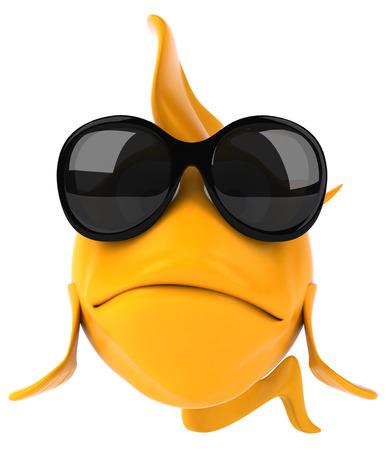 Pescado de dibujos animados con gafas de sol Foto de archivo - 82496428