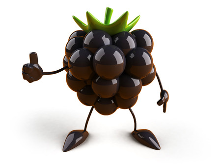 Cartoon blackberries showing thumbs up