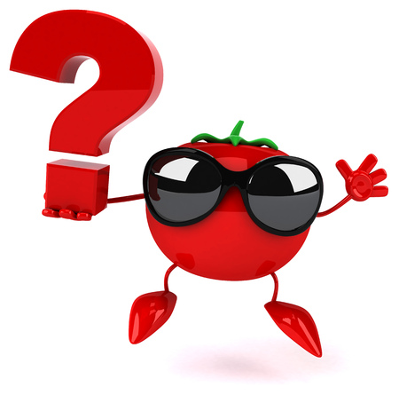 Fun tomato Stock Photo