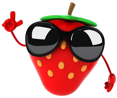 サングラスをかけた漫画イチゴ