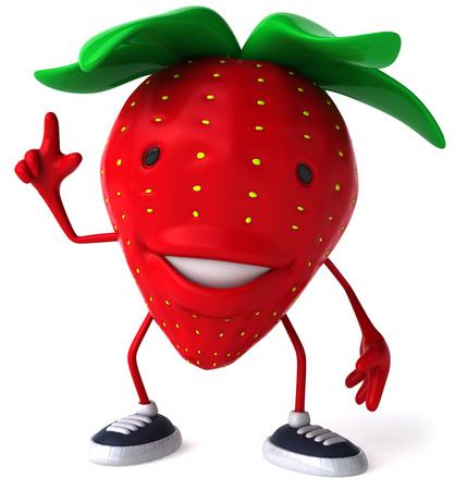 漫画イチゴを笑顔と指摘