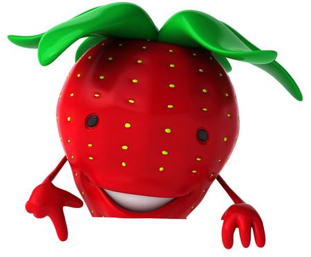 漫画イチゴがポイントします。