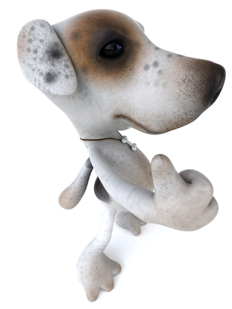 Cartoon dog showing thumbs up