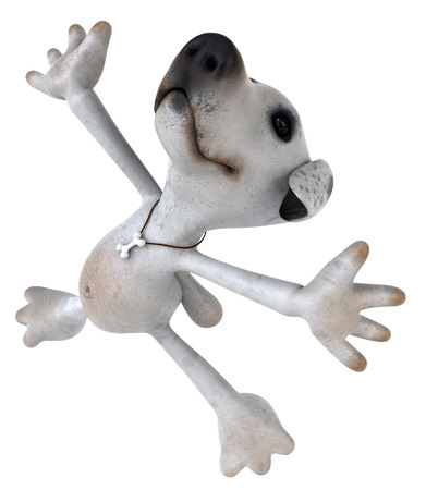 Cartoon dog dancing