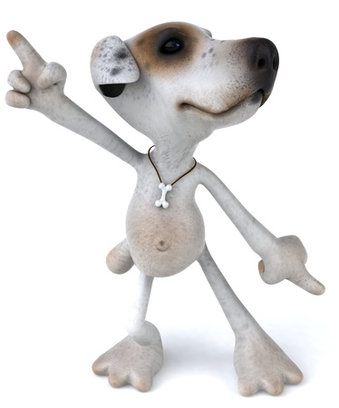 Cartoon dog is dancing Banco de Imagens